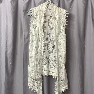 Women's White cardigan